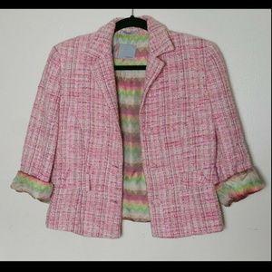Missoni Tweed Blazer Pink Button up Size 10